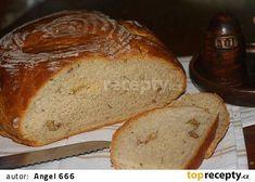 Ořechový chléb z podmáslí recept - TopRecepty.cz Bread, Food, Breads, Baking, Meals, Yemek, Sandwich Loaf, Eten