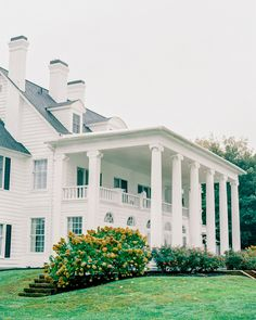 """Kirkland Manor was just the epitome of Eastern shore living,"" says Lauren of the couple's decision to host their wedding at the private estate, which boasts views of the Miles River. #Mansion #Wedding #Venue #EastCoast #WestCoast #Unique #Urban #BackyardWedding 