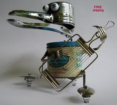 Sculpture The Winner of by BranMixArt Recycled Robot, Recycled Art, Repurposed, Found Object Art, Found Art, Metal Robot, Sculpture Metal, Scrap Metal Art, Find Objects