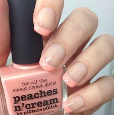 piCture pOlish 'Peaches n Cream' nails by Michele LOVE :) Shop on-line: www.picturepolish.com.au