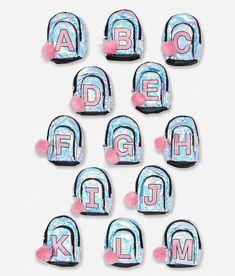 NWT Justice Girls Silver Unicorn Flip Sequin Mini Backpack Initials D I V Z