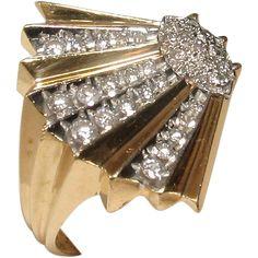 Artist Proof Erte Coquillage Ring selling BELOW COST until Nov. 20! 14k Diamond Ring - Artist Proof!