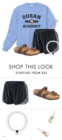 """Getting donuts"" by flroasburn ❤ liked on Polyvore featuring NIKE, Birkenstock and J.Crew"