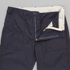 Engineered Garments Fatigue Pant in Navy Cotton Ripstop