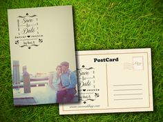 save the date wedding postcard - Google Search