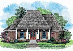 Beautiful Proportions - 14131KB | 1st Floor Master Suite, Acadian, Butler Walk-in Pantry, Carport, Corner Lot, Den-Office-Library-Study, European, French Country, Jack & Jill Bath, PDF, Southern | Architectural Designs