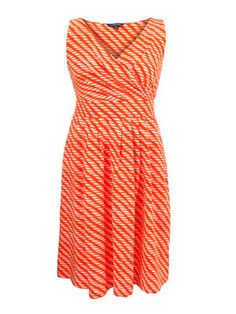 Striped orange dress,  slim clothes at allaboutyou.com