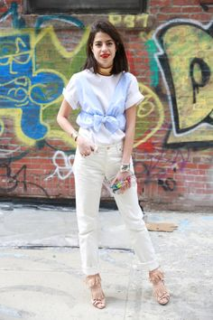 The Manifold Ways to Wear White Jeans | Man Repeller   HERA CHOKER @NET-A-PORTER.COM