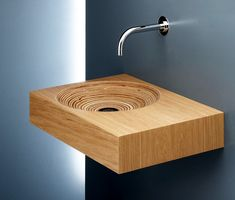 Limbus 3 Wood Washbasin, on Designer Pages (for a teeny powder room)