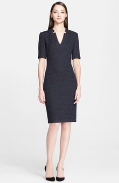 Free shipping and returns on St. John Collection Donegal Tweed Knit Pencil Dress at Nordstrom.com. Notches framing the narrow V-neckline modernize a lean short-sleeve dress crafted in a classic Donegal tweed knit.