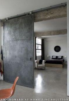 ZINC SLIDING DOOR INSTEAD OF A BARN DOOR FOR MORE INDUSTRIAL STYLES.jpg