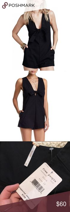 NWT Free People Daisy Tie Front Stretch Romper A stretch-cotton romper is ultra-sleek thanks to its cleanly tailored seam details and refined, figure-skimming silhouette. A drapey front tie accents the deep V-neckline, while a slender back keyhole adds a breezy finish to this leg-flaunting look. New with tags. ✨ Feel free to ask any questions. No trades or outside transactions. Offers welcomed. Bundle to save more 🎈 Free People Dresses Mini