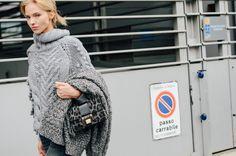 The Jimmy Choo REBEL bag spotted at Milan Fashion Week