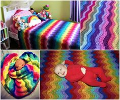 Cover   of   Rainbow   beautifully   colored   Ripple - Free   Pattern   and   Guide    Take a look at   crochet   craft   collections   an...