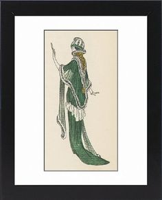 Framed Print of Fur-Trimed Shawl 1913 from Mary Evans
