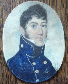 Miniature portrait of young naval officer, early 19th c. Could it be?!!! Captain Wentworth?!!!