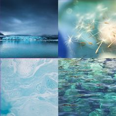 HELLBLAU die Farbe der allumfassenden Liebe Waves, Nature, Outdoor, Color Of Life, Light Blue Color, Witches, Ghosts, Creative Ideas, To Draw