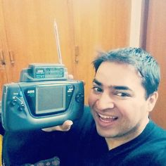aatifnawaz: Never too far from a #retrogaming moment. Here's my old Sega GameGear complete with TV Tuner. Who remembers? #Sega #SegaGameGear #GameGear #RetroGames #GamesConsole #Consoles #Handheld #HandheldGaming #ClassicGames #Classic #OldSchoolGames #gamegear #microobbit