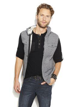 He'll rock the weekend in a henley/vest combo. #RockRepublic #Kohls
