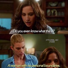 """#Stitchers 1x03 """"Connections"""" - Camille and Kirsten"""