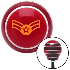 Orange Airman First Class Red Stripe Shift Knob with M16 x 15 Insert - Give your interior the ultimate look. American Shifter's Elite(TM) series shift knobs are made from the highest quality components resulting in a superior feel on every shift. Each shift knob is designed and customized in the USA by skilled shift knob artisans who have a trained eye on every detail. American Shifters shift knobs offers an exclusive aluminum threaded insert designed to be screwed onto your shift arm. You…