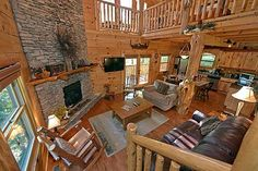 My favorite cabin to stay when we go to Gatlingburg. If we ever win the lottery I am going to buy it.