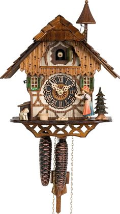 Hones Chalet Bell Ringer Weight-Driven Cuckoo Clock 1-Day 1294 Authentic German Cuckoo Clock - Made in the Black Forest 2 Year Manufacturer Warranty Product Description 1-Day Bell RingerHigh Quality C                                                                                                                                                                                 More