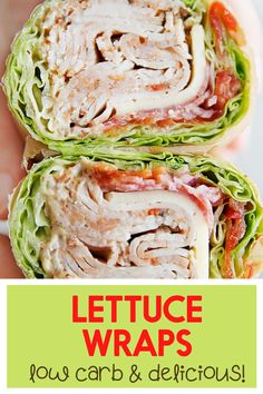 Ever wonder how to make a lettuce wrap sandwich? These easy lettuce wraps are the perfect low carb, keto, and healthy sandwich without the bread! Everybody loves these lettuce sandwich wraps! Quick Dinner Recipes, Easy Healthy Recipes, Lunch Recipes, New Recipes, Easy Meals, Yummy Recipes, Dessert Recipes, Health Recipes, Easy Snacks