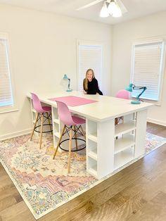 Sewing Room Design, Craft Room Design, Craft Room Decor, Craft Room Storage, Sewing Rooms, Home Decor, Ikea Craft Room, Small Craft Rooms, Design Crafts
