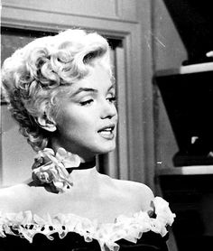 Marilyn Monroe on the set of There's No Business Like Show Business, 1954.