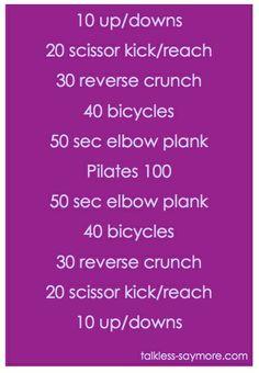 love your abs workout 2 via @Katie Schmeltzer Schmeltzer Arnold
