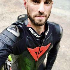 Gay Leather Biker from Belgium Best Motorbike, Motorcycle Suit, Motorcycle Leather, Motard Sexy, Bike Leathers, Biker Boys, Biker Gear, Biker Style, Stylish Men
