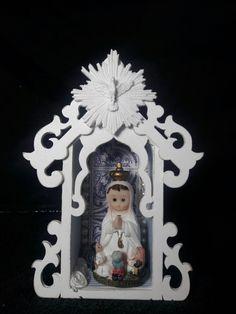 Mini Oratório - Nossa Senhora de Fátima infantil meus artesanatos.  Encomendas entrar em contato pelo @arteemfe facebook ou instagran
