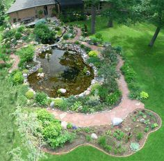 An aerial shot of our backyard