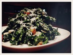 Kale Salad with Golden Raisins & Pecorino-Romano Cheese Recipe