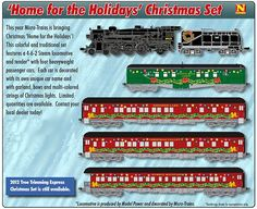 Micro-Trains N and Z Scale Holiday Train Sets at BLW.