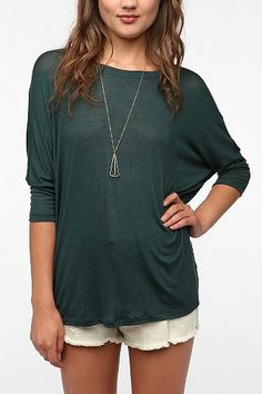 Daydreamer LA Dolman-Sleeve Tee  $29  urban outfitters  white green or black