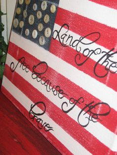 Items Similar To American Flag Freedom Canvas Hand Painted On Etsy