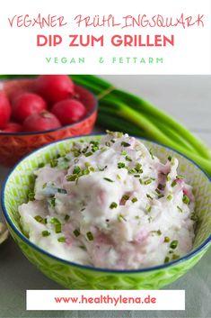 Lust auf Grillen, aber dir fehlt noch ein leckerer Dip? Dieser fettarme vegane Frühlingsquark benötigt nur 4 simple Zutaten für einen unglaublich cremigen Genuss. Auf Wunsch auch ohne Soja!