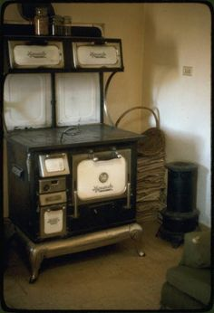 kitchen stove- we had one of these in the dining room of the house I grew up in. Dad still has it.wish I had room for it now!