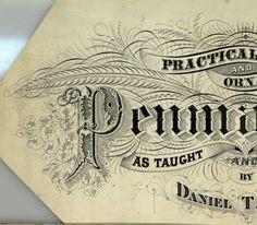 Practical and Ornamental Penmanship title artwork :: Zaner-Bloser Penmanship