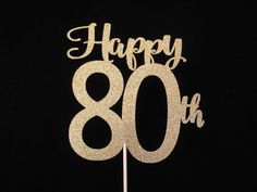 80th Birthday Cake Topper Happy 80th Cake by MaryJosPartyPicks