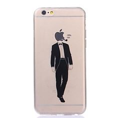 Gentle Man Pattern TPU Soft Case for iPhone 6/6S