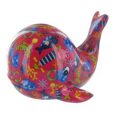 Pomme Pidou Moby the Whale Animal Money Bank - Red
