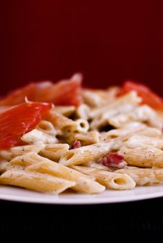 Penne alla Elvirotas (pasta with a sauce of blue cheese, jamon serrano and cream)