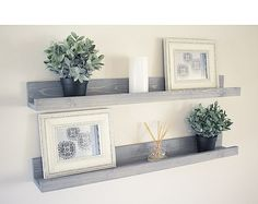Picture Ledge floating shelves 12-60 length wall