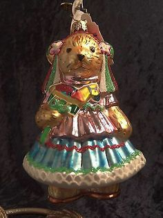 New Radko Muffy Vanderbear Feliz Cumpleanos Birthday Christmas Ornament 1015218   eBay