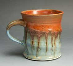 Sale - Handcrafted stoneware 12 oz tea cup coffee mug -  1105 on Etsy, $21.00
