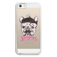 iPhone 6 Plus/6/5/5s/5c Bezel Case - Funny Mustache French Bulldog... (40,615 KRW) ❤ liked on Polyvore featuring accessories, tech accessories, iphone case, iphone cover case, iphone cases and apple iphone cases