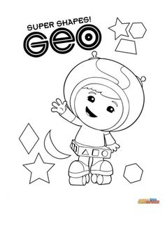 coloring page team umizoomi geo